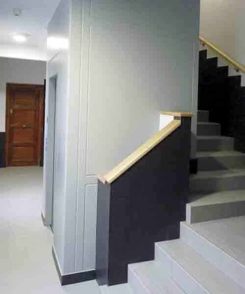 Iza Ascensores edificios sin ascensor por hueco de escalera Bizkaia y Alava